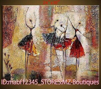 """YH378 24*30"""" Hand painted Oil Canvas Wall Art Home Decor Abstract dance NO Frame"""