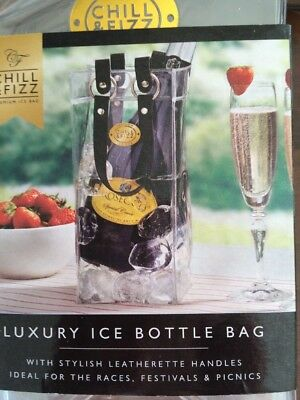 luxury procesecco Chill Wine Bottle Cooler Ice Bag Carrier festivals picnics