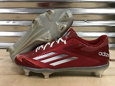 Adidas Afterburner 2.0 Metal Baseball Cleats Red White SZ ( S84700 )