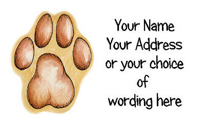 21 X Personalised Address Labels Stickers - Fab Pawprint  -  crafts address