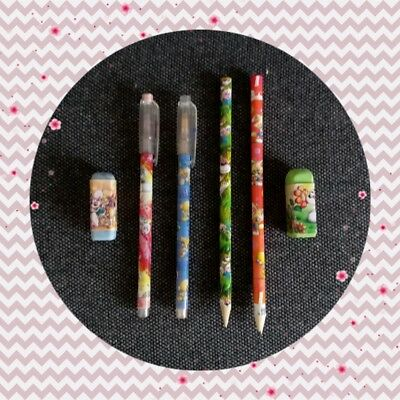 Diddl lot de stylos 6 crayons gommes TBE