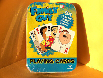 New FAMILY GUY PLAYING CARDS - DECK OF 54 PLASTIC COATED CARDS - New Sealed