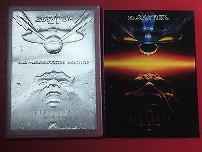 1992 Star Trek Silver The Undiscovered Country 1 oz .9999 Silver Art Bar
