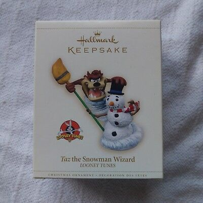 2006 Hallmark Keepsake Looney Tunes Ornament Taz the Snowman Wizard