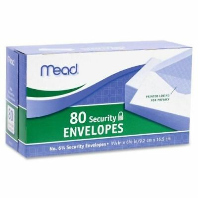 """#8 Mead Envelope Security Size (6.50"""" x 3.63"""") 20 lb, White, Made in USA (S4)"""