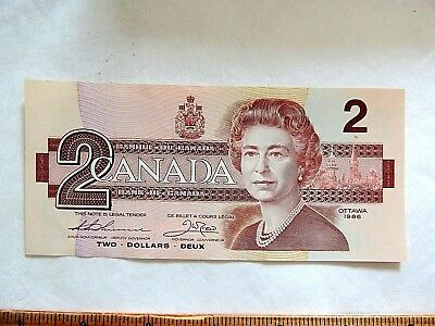 1986 Canada Two ($2) Dollar Bank Note
