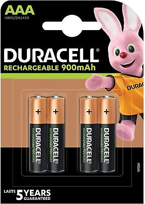 GENUINE DURACELL AAA RECHARGEABLE BATTERIES NiMH 850MAH PRECHARGED HR03 DURALOCK