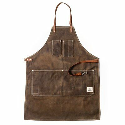 Dapper Dan Barber Apron - Chocolate
