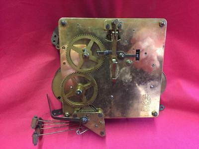 VINTAGE FHS 15cm 178,28 BRASS CLOCK MOVEMENT FOR SPARES OR REPAIR