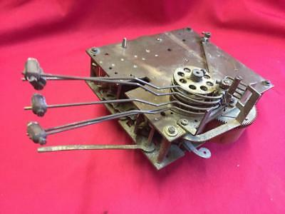 Vintage Gustav Becker Medaille D'or Brass Clock Movement For Spares Or Repair