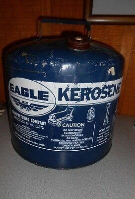 Vintage Eagle Kerosene Fuel Can 5 Gallon