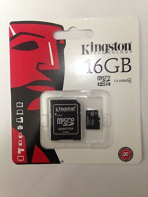 Kingston Micro SD 16GB SDHC Samsung Memory Card Microsd TF Mobile Phone Class 4