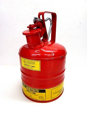 Safety Gas Can >> Nos Vintage Justrite Mfg 1 Gallon Safety Gas Can 10301 W Screen With Flaws
