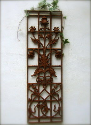Grille with Bellflower Very Pretty Grid for FRONT DOOR, Art Nouveau-Art Deco