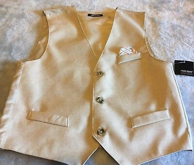 Holiday Editions Boys Beige Vest Size 12