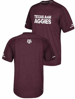 329185c8a Texas A&M Aggies Adidas NCAA Sideline Polyester Performance Synthetic T  Shirt