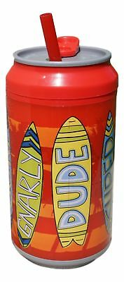 12 Ounce Cool Gear Spill Proof Insulated Can with Slide Top Twist-Off Lid (Red