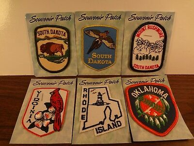 Lot of 6 Vintage USA States Sew-On or Iron-On Patches Free Shipping