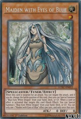 Maiden with Eyes of Blue - LCKC-EN012 - Secret Rare- 1st Ed - FREE SHIPPING