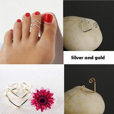NEW V Toe Ring Adjustable Silver Gold Foot Jewelry Beach Women Fashion Vintage