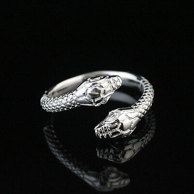NEW Fashion Ring Gift SIZE OPEN 925 Solid Sterling Silver Plated Women/Men Q536