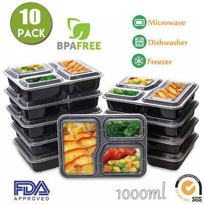10/20X Meal Prep Plastic Food Storage Containers Freezer Microwavable Lunch Box