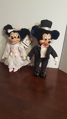 Disney Mickey and Minnie Mouse Bride and Groom Applause Vintage Tuxedo Wedding