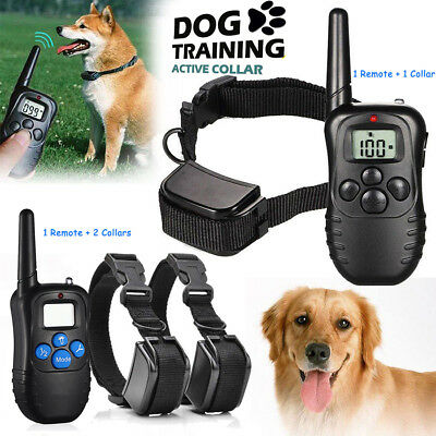 Rechargeable Electric Remote Dog Training Collar 330Y Shock Collar For 1/ 2 Dogs