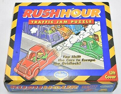 Rush Hour Traffic Jam Puzzle Game Think Fun 2003 100% Complete