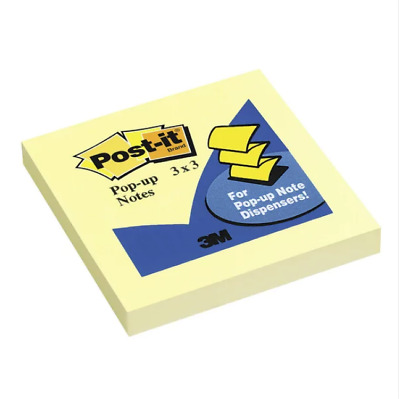 Post-It Notes 3x3 Pop-Up Sticky Yellow Office Home School Desk Accessories NEW