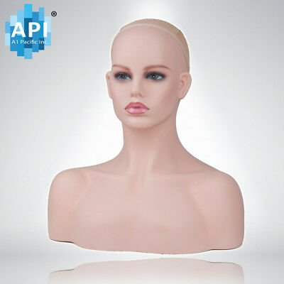 Plastic Mannequin Wig Head BUST DISPLAY HAT CAP Glasses HOLDER Stand DB-496-A