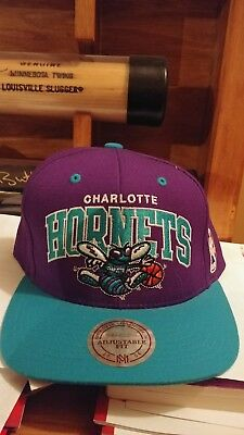 wholesale dealer 0ce88 e3c64 Mitchell   Ness Charlotte Hornets BRAND NEW Snapback cap hat NBA SWEET!  Awesome!
