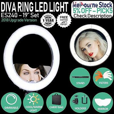 Dimmable Neewer 48cm -18'' LED Ring Light & Stand 55W 5500K Light SMD Kit 240PCS