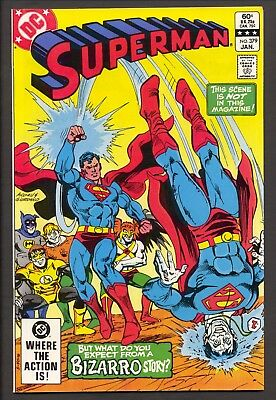 Superman #379 (1983) ~ Bizzaro cover and story~ Curt Swan art ~ NM+