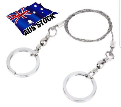 Stainless Steel Wire Saw Camping Survival Rope Emergency