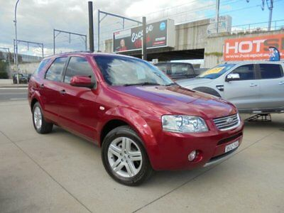 2007 Ford Territory SY Ghia Red Automatic 4sp A Wagon
