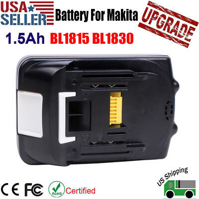 18V 1.5Ah Lithium Ion Battery 18 Volt For Makita BL1830 BL1815 LXT 400 Compact