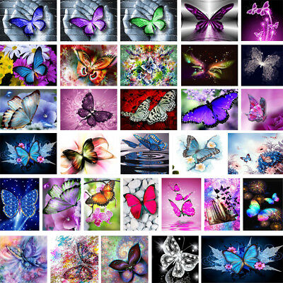 5D DIY Diamond Painting Embroidery Butterflies Cross Crafts Stitch Kit Decors
