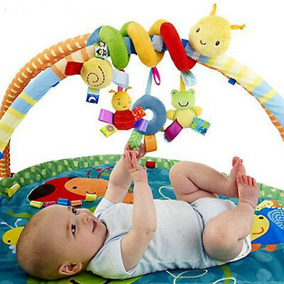Baby Mobile Crib Music Toy Kid Crib Cot Pram Ringing Bed Bells Spiral Rattles UK