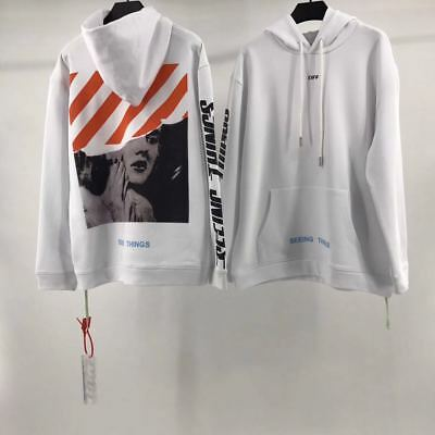 Falection 17fw OffWhite Monroe Diag Flocking Seeing Things Cotton Hoodie Jumper