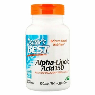 Alpha Lipoic Acid - Doctors Best - 120 Capsules - Large Bottle - Free Radicals