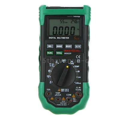 MS8229 Auto-Range 5-in-1 Digital Multimeter DMM Lux Humidity Thermometer E0C3