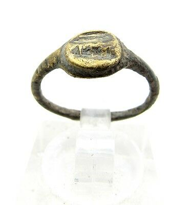 Roman Bronze Ring  - Ancient Wearable Historic Artifact Lovely -  C58