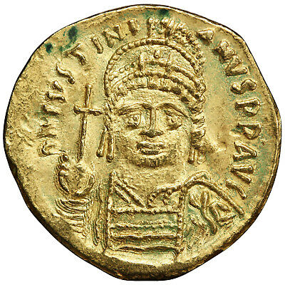 BYZANTINE: Justinian I, Gold Solidus (3.99g), Carthage, AD 527-565