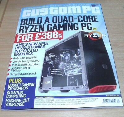 Custom PC magazine MAY 2018 SATA SSDs, Membrane Keyboards, ZX Spectrum Next &