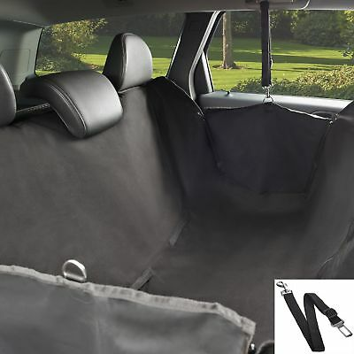 Premium Dog Hammock Car Seat Cover XL Backseat Waterproof Safety Belt Cars, SUVs