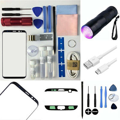New Samsung Galaxy S8 Plus Front Outer Glass Lens Screen Replacement Repair Kit