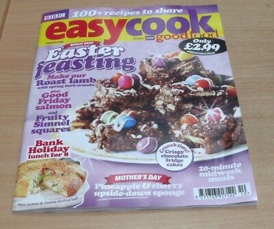 BBC Easy Cook magazine MAR 2018 Easter Feasting, Lunch for 8, Midweek Meals &