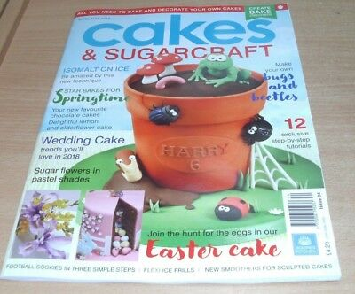 Cakes & Sugarcraft magazine #145 APR/MAY 2018 Isomalt on Ice, Bugs & Beetles