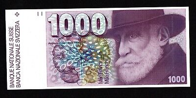 1000 Francs Swiss 1984, Almost Unc, Very Rare In This Quality.
